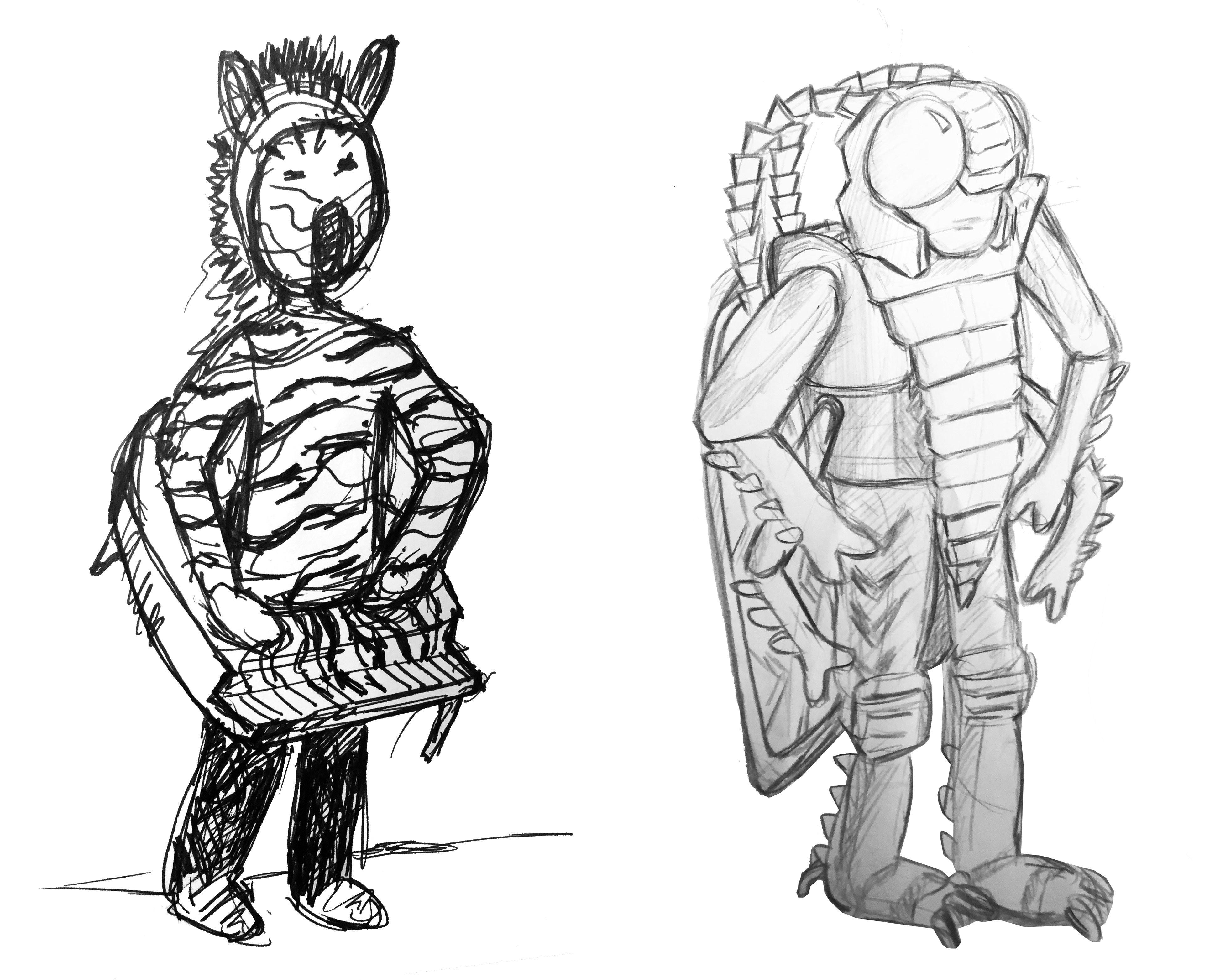 4  Zebra Piano Sketch