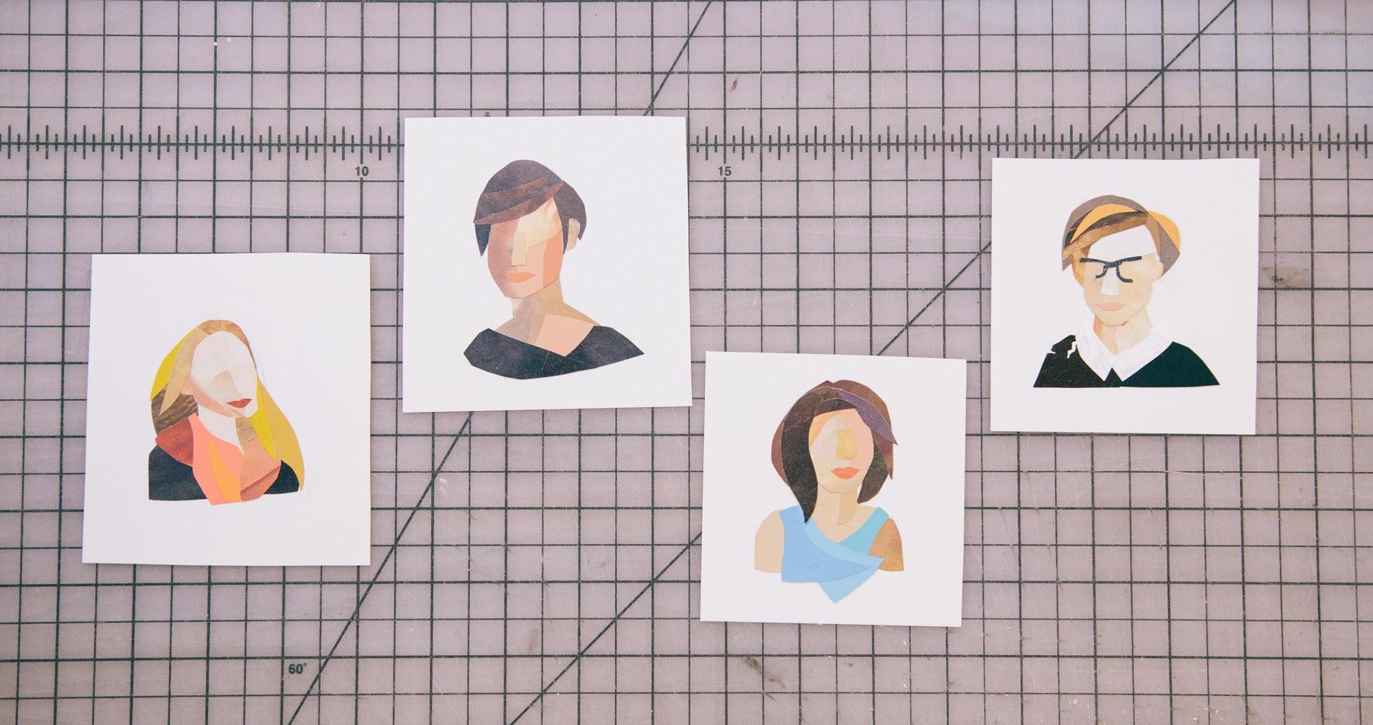 Allson Press Collage Portraits 2