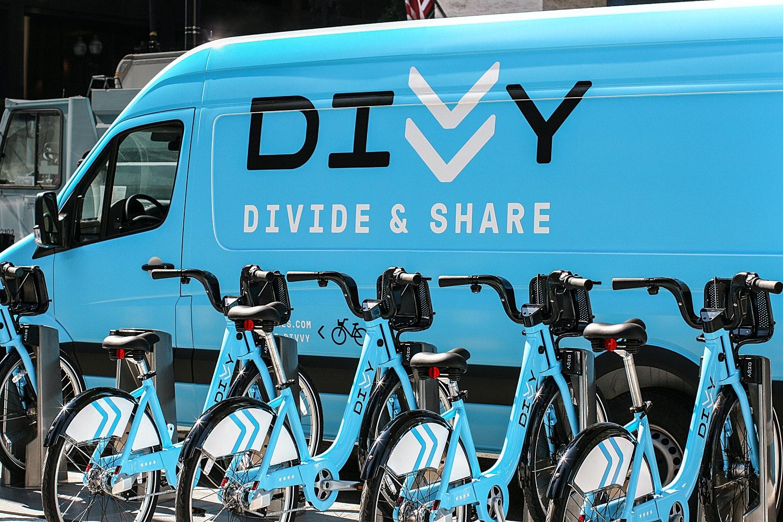 13 Divvy Bikes Van