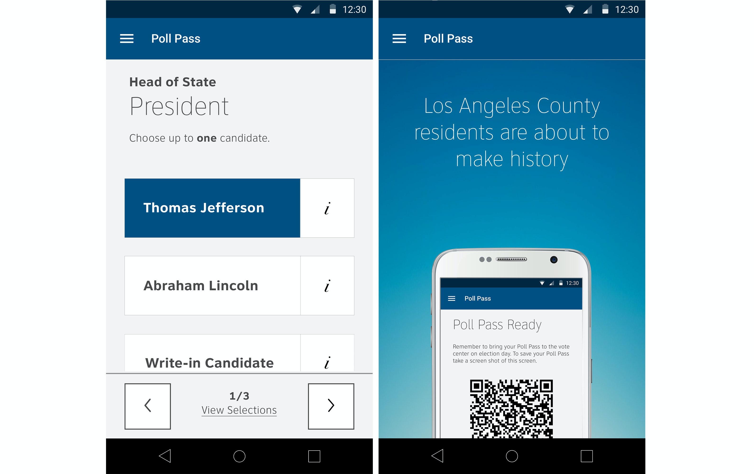 Poll Pass App 2