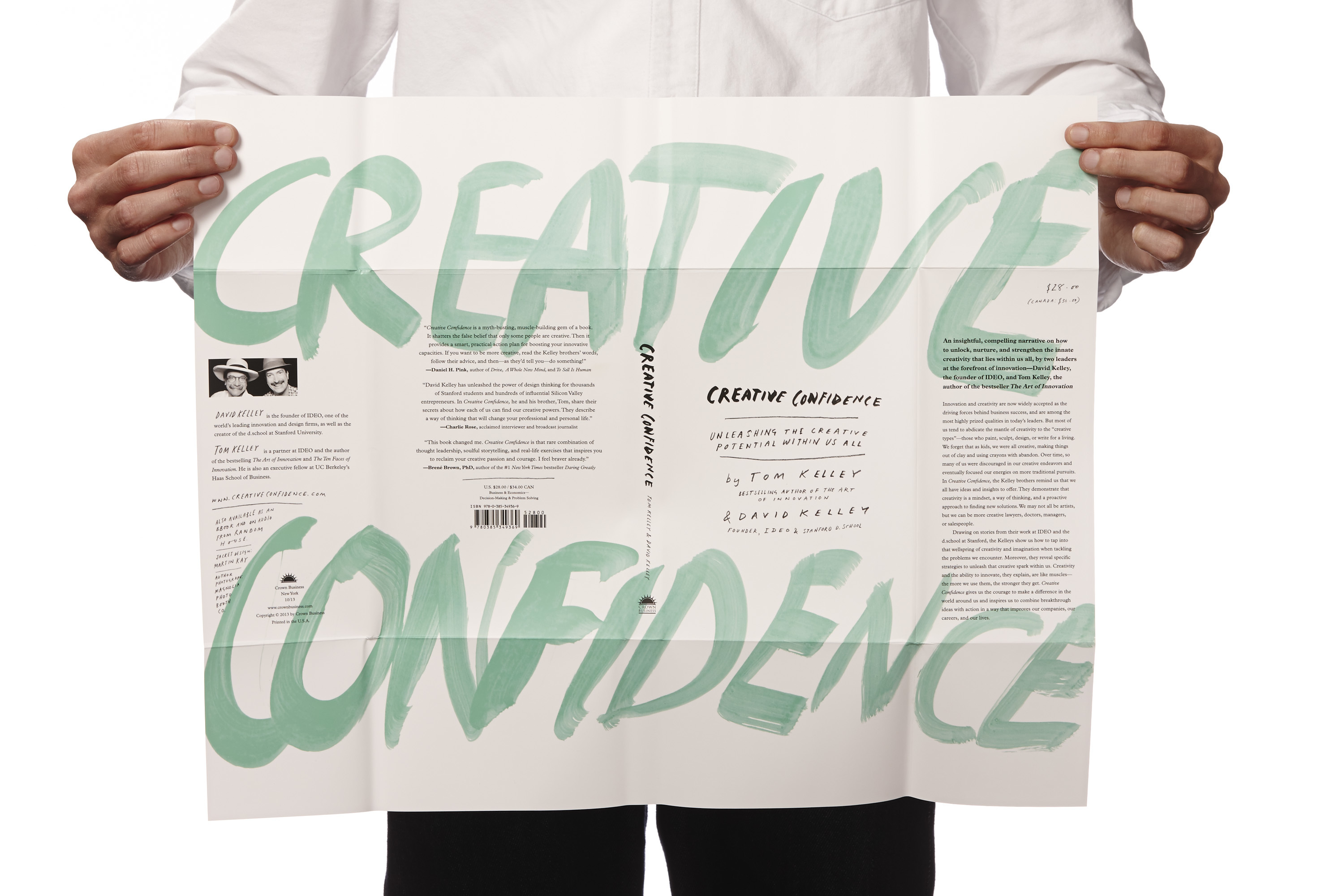 Creative Confidence book sleeve in hands